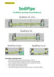 Sedi-pipe rensning af overfladevand - Nyrup Plast