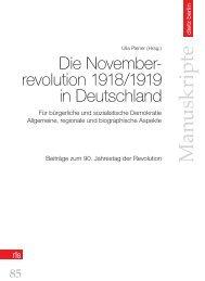 Die Novemberrevolution 1918/1919 in Deutschland
