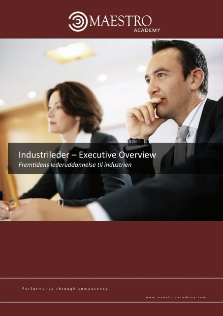 Executive overview - Value, Exellence, Leadership