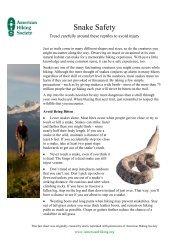 Snake Safety - American Hiking Society