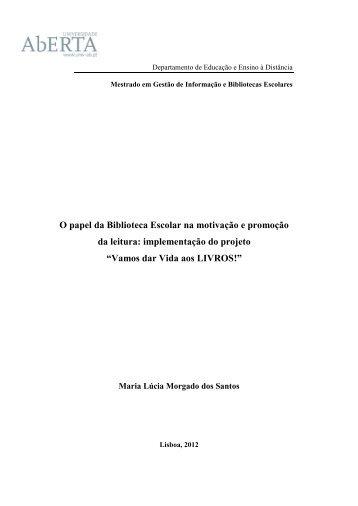 Projeto - Vamos dar Vida aos Livros - Lúcia Morgado - 2012.pdf