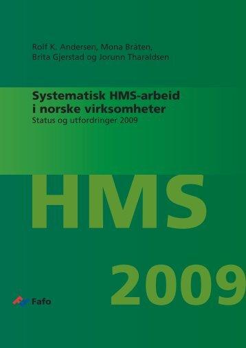 Systematisk HMS-arbeid i norske virksomheter - Fafo