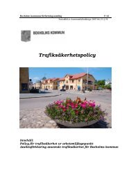 Trafiksäkerhetspolicy - Boxholm kommun - Boxholms kommun