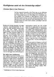 Flyttfåglarnas antal och den föränderliga miljön* - Ottenby ...
