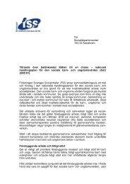 FSS yttrande 31 januari 2006 - Föreningen Sveriges Socialchefer
