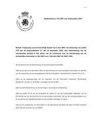 Toepassing van het koninklijk besluit van 9 mei 2007 tot uitvoering ...
