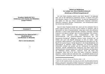 Grundkurs Mediävistik Teil I: Einführung in die Literatur des - Emile