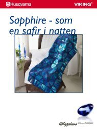 Download instruktion til SAPPHIRE™ Quilt (PDF) - HUSQVARNA ...