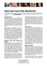 Interview med Vibe Neidhardt