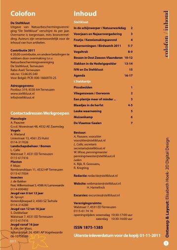 Steltkluut herfst 2011 - Natuurbeschermingsvereniging De Steltkluut