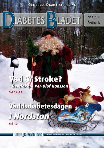 DiabetesBladet nr 4, 2011 - Göteborgs Diabetesförening