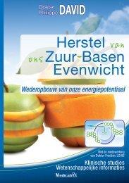 Herstel van onszuur-Basen Evenwicht - Editions marco pietteur