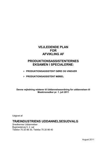 Vejledning til afsluttende prøve produktionsassistent - Snedkernes ...
