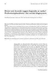 Professionspluralisme i det sociale klagesystem - Retfærd