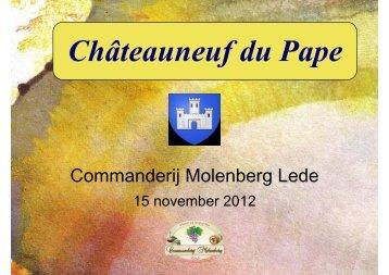 Presentatie - Commanderij Molenberg