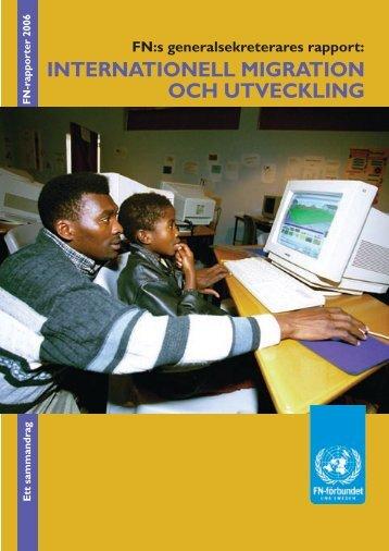 inlaga Migrationsrapp - Svenska FN-förbundet