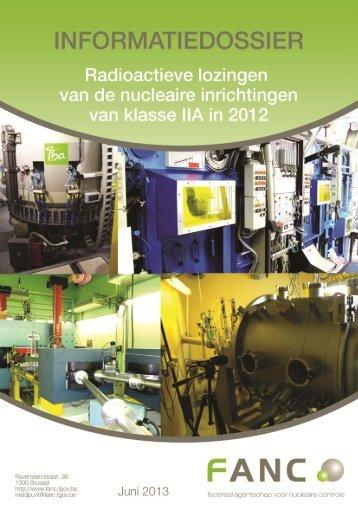 Informatiedossier - Radioactieve lozingen van nucleaire ... - AFCN