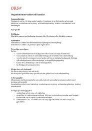 Protokoll 120816 Bilaga Kravprofil ... - Orsa Kommun