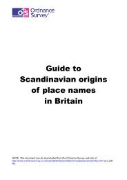 Guide to Scandinavian origins of place names in ... - Ordnance Survey