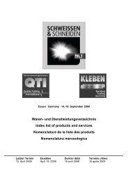und Dienstleistungsverzeichnis Index list of products and services ...