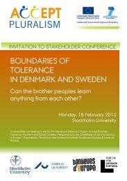 BOUNDARIES OF TOLERANCE IN DENMARK AND SWEDEN