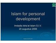 Presentatie 1 - Imdadia Isha'at Islam
