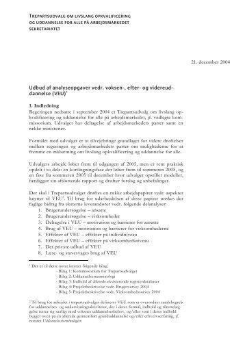Trepartsudvalg om livslang opkvalificering og ... - Finansministeriet