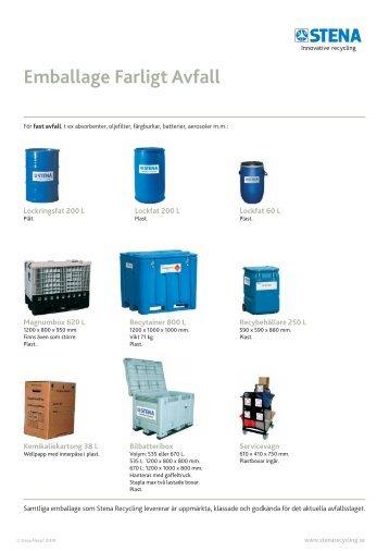 Emballage Farligt Avfall - Stena Metall Group