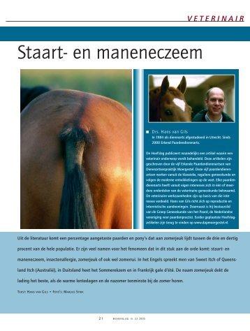 Staart- en maneneczeem - Dierenartsenpraktijk Moergestel