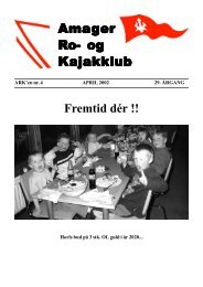 Nyt fra bestyrelsen - Amager ro- og kajakklub