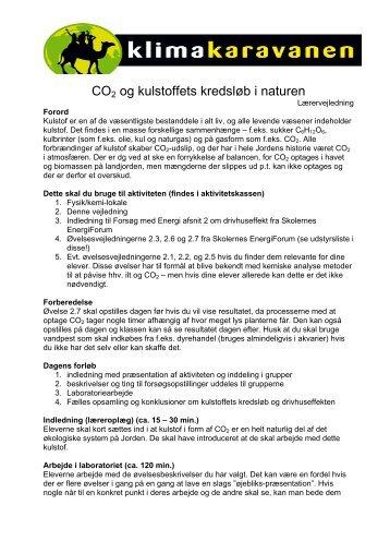 CO2 og kulstoffets kredsløb i naturen - Klimakaravanen