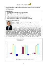 Anlagepolitik 2013 - wysspartner.ch