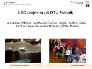 Udvikling af LED lyskilder og lamper - Lysnet