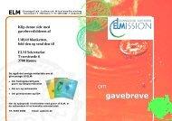om gavebreve - Evangelisk Luthersk Missionsforening
