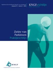 KNGF-richtlijn Parkinson - ParkinsonNet