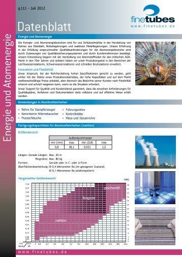 Atomkraft und Energie - Fine Tubes