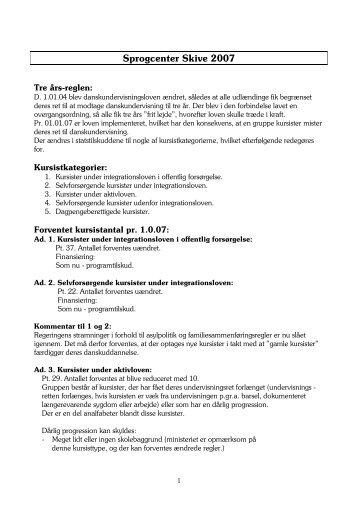 Sprogcenter Skive 2007 - Skive.dk
