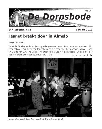 1 april 2013 - Dorpsbode