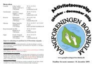 PROGRAM Oktober - december 2009 - Gangforeningen Bornholm