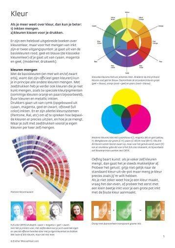 Als je meer weet over kleur, dan kun je beter: 1 ... - Zwaar Water