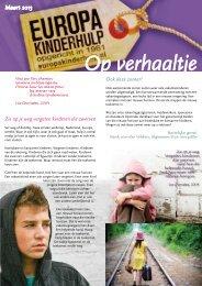 Op Verhaaltje van maart 2013 - Europa Kinderhulp