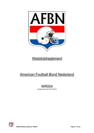 AFBN Wedstrijd reglement WR004