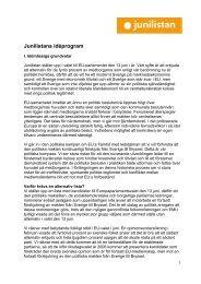 Politiskt ideprogram 2004 - Junilistan