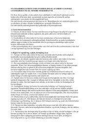 Standardreglement for overholdelse af orden i danske ...