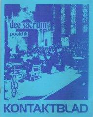 Nr.126 November 1979 - Deo Sacrum
