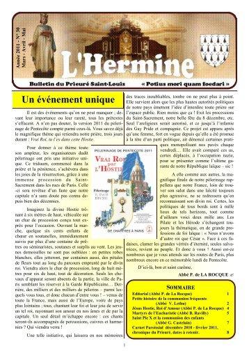 L'Hermine nº 30 - Un événement unique - Abbé ... - La Porte Latine