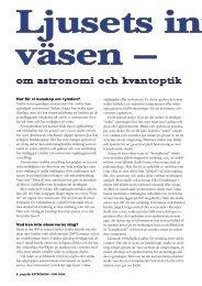 Ljusets innersta väsen – om astronomi och kvantoptik - Populär ...