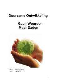 Duurzame Ontwikkeling Geen Woorden Maar Daden - PvdA Zuid ...