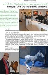 'In onzekere tijden koopt men het liefst zekere kunst' - Galerie Lauswolt