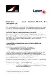 Trainingen ¦ Laser Standaard ? Radial ? 4.7 - ZSC Broechem